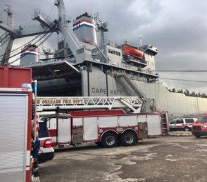 More than 40 firefighters in 16 fire vehicles brought the blaze under control. (Photo/ New Orleans Fire Department)