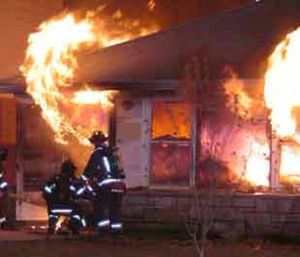 When gases rise and begin to spread, a flashover can occur (Photo courtesy Warren Skalski)