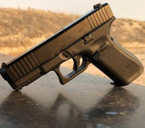 "Considered to be ""the ultimate service pistol"" offered by Glock, the G45 enjoys the advancements and benefits of both the Crossover G19X and the Gen 5 pistols. (Photo/Sean Curtis)"
