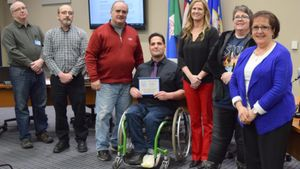 Jacob Siem played wheelchair basketball in high school and he has substantial upper body strength. (Photo/City of Mankato)