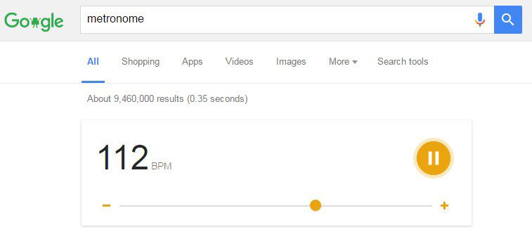 How to use Google search bar for a CPR metronome