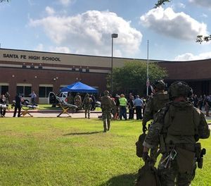 A gunman carrying a shotgun and a revolver opened fire at a Houston-area high school Friday, killing 10 people, most of them students, authorities said. (Photo/Harris County Sheriff's Office)