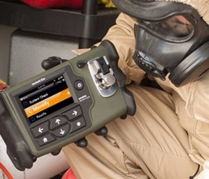 Infrared identification tools like the HazMatID Elite can be used by the fire service to analyze drugs, unknown white powders and unidentified liquids. (photo/Smiths Detection)