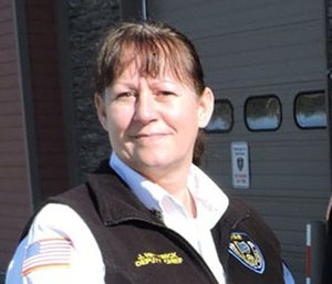 Anchorage Fire Department Chief Jodie Hettrick, a 6-year veteran of the department and 30-year fire service veteran, was recently made the official chief after serving in the position since the previous chief retired in May. (Photo/Municipality of Anchorage)