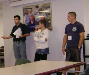 EMT students share with one another in the activity, how they do things. (Image courtesy Rom Duckworth)