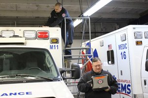 Indianapolis EMS installs external antennae to support Cradlepoint COR routers throughout its fleet (photo/IEMS)