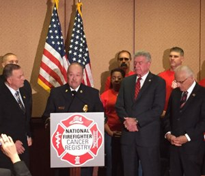 Brian McQueen, former chief of Whitesboro Vol. Fire Dept., shares his story. (Photo/NVFC)