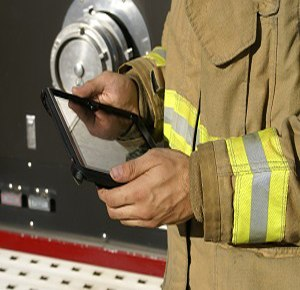 Fire departments can deployed the Rhodium™ Incident Management Suite to access electronic maps. (Image IRT Software)