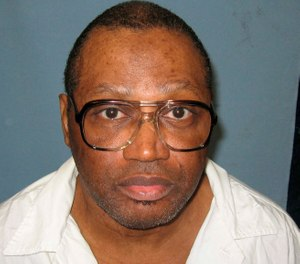 his undated file photo provided by the Alabama Department of Corrections shows a police mug shot of Vernon Madison, who is scheduled to be executed for the 1985 murder of Mobile police officer Julius Schulte (Alabama Department of Corrections, via AP, File)