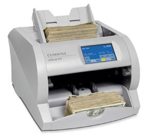 This type of equipment — used for many years to improve the accuracy and speed of currency counting, sorting and documentation used in banks, casinos, and retail stores — is finding growing acceptance in the law enforcement community. (Image Courtesy of Cummins Allison)