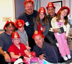 January 2013, Oakland Firefighters and Citizen volunteers began a project to help children and their families that may be the first in the world. (Photo courtesy www.ofrandomacts.org)