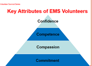 For a volunteer EMS organization to flourish, its personnel need to exemplify four attributes. (Photo/Nancy Magee)
