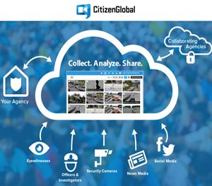 CitizenGlobal launched an innovative platform for law enforcement to collect, sort, analyze and distribute an unprecedented volume of photos and videos. (Image CitizenGlobal)