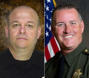 Deputy Danny Oliver, left, and Placer County sheriff's Detective Michael Davis Jr were killed by Luis Bracamontes in 2014. (Photo/Sacramento County Sheriff's Department/Placer County Sheriff's Office)
