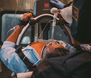The Lucas Chest Compression System allows responders to keep CPR going while a patient is on a stretcher or being moved (Photo/Physio-Control)
