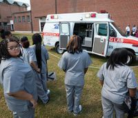 Retired ambulance donated to high school EMT program