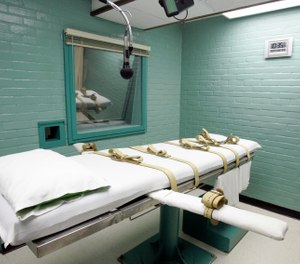 "A supplier of Texas' execution drugs can remain secret under a court ruling that cited a risk of ""physical harm"" to the compounding pharmacy if the information became public.  (AP Photo/Pat Sullivan, File)"