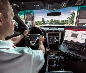 LiftMaster's commercial door operators and monitoring devices work together to provide an integrated, seamless access system that can help improve speed, safety and security for firefighters. (photo/LiftMaster)