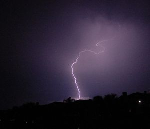 A number of people have reported being struck by lightning in the Carolinas this month, with one killing a 39-year-old man and another striking a couple while they were in the water. (Photo/Wikimedia Commons)