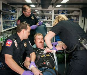 Improvement of clinical conditions was noted for 94 percent of excited delirium patients who received ketamine (Photo courtesy Montgomery County Hospital District)