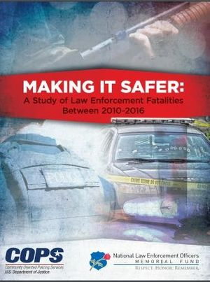 The report provides insights into the dramatic spikes in shots fired calls and police ambushes, and dangers of self-initiated officer activity compared to calls for service. (Photo/NLEOMF)
