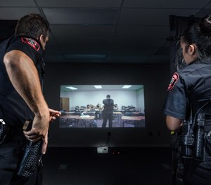 Use simulation to train for marksmanship, active shooter response and more. In addition to improving officer performance and reducing expenses, using in-house simulation training keeps officers at the station so they can respond quickly when needed. (image/Laser Shot)