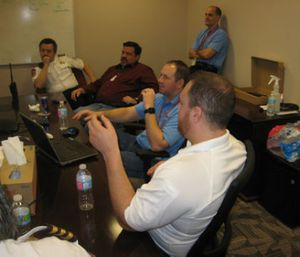 A MedStar project team discusses the testing, purchasing and implementation of a new product (Photo courtesy of Michael Potts, MedStar Mobile Healthcare)