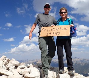 Don and Kris Soltis climbed 14,204 feet to reach the tops of Mount Princeton in Chaffee County, Colorado.