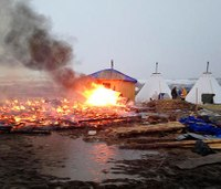 ND pipeline protesters set fire ahead of camp closing