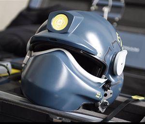 A prototype helmet for future first responders created by the DHS. (Photo/DHS Science and Technology Directorate)