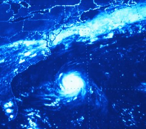An increase in water temperature may result in hurricanes developing earlier than usual along the eastern seaboard. (Photo/NOAA)