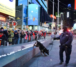 The New York Police Department is adding a drone this year to the security forces it uses to protect the huge crowds celebrating New Year's Eve in the city. (AP Photo/Go Nakamura, File)