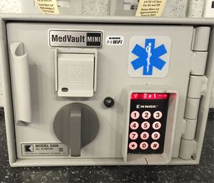 Some agencies use an electronic lock that requires two separate combinations, codes or electronic key cards. (Photo by Greg Friese)