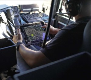 LaunchPort Rugged System by iPort secures and protects an iPad in a fire apparatus (photo/iPort)