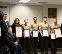 5 Marines honored for saving Calif. man in cardiac arrest