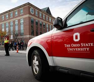The scene of the attack on the Ohio State University campus had barely been locked down when the name of the officer involved in killing the attacker had been released to the press and the public. (AP Image)