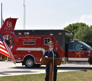 The city's current ambulance service, MedStar, will continue providing services on a backup basis. (Photo/ City of Orange Beach)
