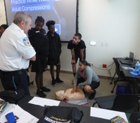 Mass. ambulance service trains youth cadets in lifesaving techniques