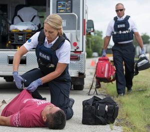 A growing number of agencies, like the St. Charles County Ambulance District outside St. Louis, have purchased body armor to prioritize provider health and safety. Propper offered the color and features SCCAD wanted. (image/Propper)