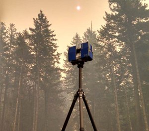 FARO 3D Laser Scanner at the scene of the 36 Pit Fire (Photo courtesy of Bryon O'Neil)