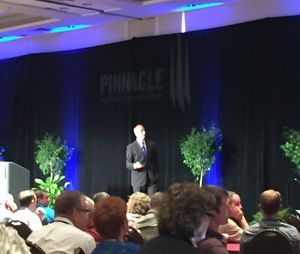 Gregg Margolis used a fictional EMS service, Acme EMS, to explore what EMS systems get paid and what payment models might look like in the future at at the Pinnacle EMS Leadership forum. (Image Greg Friese)