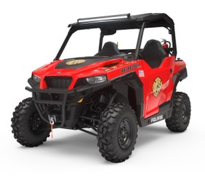 Polaris Government and Defense has expanded its current offering of the popular off-road and over-the-curb RANGER fire and rescue vehicles to include the street-legal GEM and indoor-use Taylor-Dunn electric vehicles. (Image courtesy Polaris)
