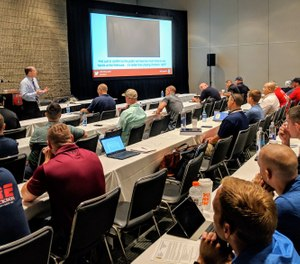 "Steve Prziborowksi, deputy chief, Santa Clara County (California) Fire Department, presents his Fire-Rescue International 2019 session ""Successfully transitioning from firefighter to company officer."" (Photo/Janelle Foskett)"