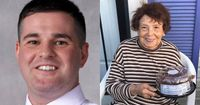 Officer does odd jobs, buys birthday cake for elderly woman