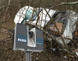 Capture accurate details of evidence with a 3D laser scanner (photo/FARO)