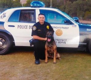 K-9 Max and his handler, Officer Luis Carbajal (Photo/San Diego Police)