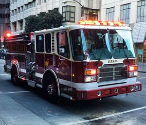 The Vision Zero fire truck was unveiled in the hopes that it will make navigation through busy city streets easier. (Photo/SFFD)