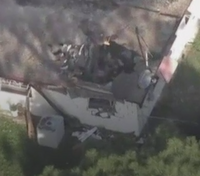 Quick work, foam prevent explosion when plane hits house