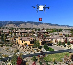 When a 911 dispatcher is alerted to a cardiac arrest victim, in addition to sending an ambulance, they will also provide instructions for using a defibrillator delivered by a drone to allow emergency action to be taken faster than paramedics can arrive. (Photo/Flirtey Twitter)