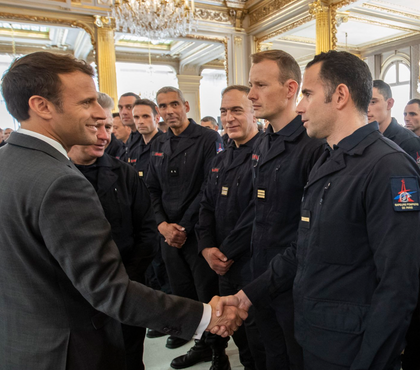 France honors Paris firefighters with daylong tribute